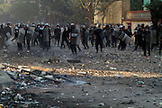 "Protestors clashed with Egyptian miitary  as a crowd of tens of thousands filled Cairo's Tahrir Square Tuesday, answering the call for a million people to turn out and intensify pressure on Egypt's military leaders to hand over power to a civilian government. The ruling military council held crisis talks with political parties across the spectrum to try to defuse growing cries for a ""second revolution.""(Photo by Heidi Levine/Sipa Press)."