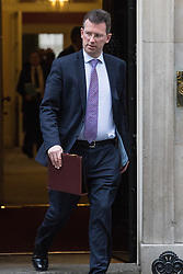 Downing Street, London, January 10th 2017. Attorney General Jeremy Wright leaves the weekly UK cabinet meeting at 10 Downing Street as the new Parliamentary term begins.