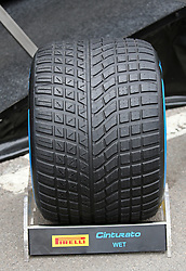 February 20, 2019 - Barcelona, Spain - wet tire during the Formula 1 test in Barcelona, on 20th February 2019, in Barcelona, Spain. (Credit Image: © Joan Valls/NurPhoto via ZUMA Press)