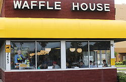 People have lunch at the Waffle House in Cocoa Beach, on Tuesday, September 3, 2019. Photo by Ricardo Ramirez Buxeda/ Orlando Sentinel/TNS/ABACAPRESS.COM