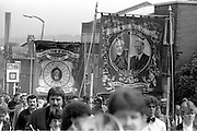 Hatfield Main banner, 1983 Yorkshire Miner's Gala. Barnsley