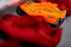 Nike boots of Gustav Engvall of Bristol City in the Away Dressing room at Elland Road - Rogan/JMP - 18/02/2018 - Elland Road - Leeds, England - Leeds United v Bristol City - Sky Bet Championship.