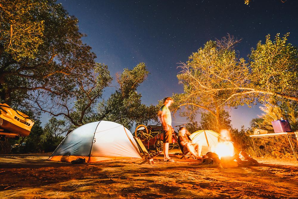 Desert nights. Fireside with Dane Cronin, Jeremy Hottinger, and Chelsea Kimball, Virgin, Utah.