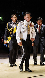 October 22, 2019, JAPAN: 22-10-2019 Gala Royals arrive at the Imperial Palace for the Court Banquets, the 'Kyoen-no-gi' banquet, after the ceremony of the enthronement of Emperor Naruhito in Tokyo, Japan Brunei's Sultan Hassanal Bolkiah and his son prince Abdul Mateen. (Credit Image: © face to face via ZUMA Press)
