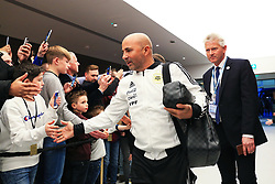 Argentina manager Jorge Sampaoli greets fans on arrival at the Etihad Stadium - Mandatory by-line: Matt McNulty/JMP - 23/03/2018 - FOOTBALL - Etihad Stadium - Manchester, England - Argentina v Italy - International Friendly