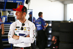 November 17, 2018 - Homestead, Florida, U.S. - Jamie McMurray (1) hangs out in the garage prior to second practice for the Ford 400 at Homestead-Miami Speedway in Homestead, Florida. (Credit Image: © Justin R. Noe Asp Inc/ASP)