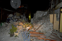 July 21, 2017 - Kos Island, Greece - A damaged building is seen after an earthquake on the Greek island of Kos early Friday. A powerful earthquake struck Turkey's Aegean coast and nearby Greek islands, sending frightened residents running out of buildings they feared would collapse and into the streets (Credit Image: © Eurokinissi via ZUMA Wire)