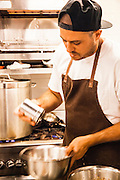 Chef Matt Abergel helping out at Sunday's Grocery, 66-68 Catchick Street, Kennedy Town, Hong Kong