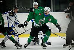 Gal Koren of SZ Olimpija during ice hockey match between HK SZ Olimpija and WSV Sterzing Broncos Weihenstephan (ITA) in Round #12 of AHL - Alps Hockey League 2018/19, on October 30, 2018, in Hala Tivoli, Ljubljana, Slovenia. Photo by Vid Ponikvar / Sportida