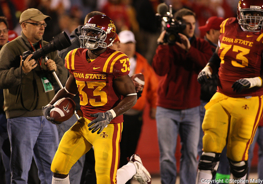 25 OCTOBER 2008:..in the first half of an NCAA college football game between Iowa State and Texas A&M, at Jack Trice Stadium in Ames, Iowa on Saturday Oct. 25, 2008. Texas A&M beat Iowa State 49-35.