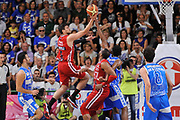 DESCRIZIONE : Campionato 2014/15 Serie A Beko Semifinale Playoff Gara4 Dinamo Banco di Sardegna Sassari - Olimpia EA7 Emporio Armani Milano<br /> GIOCATORE : Alessandro Gentile<br /> CATEGORIA : Tiro Penetrazione Sottomano Controcampo<br /> SQUADRA : Olimpia EA7 Emporio Armani Milano<br /> EVENTO : LegaBasket Serie A Beko 2014/2015 Playoff<br /> GARA : Dinamo Banco di Sardegna Sassari - Olimpia EA7 Emporio Armani Milano Gara4<br /> DATA : 04/06/2015<br /> SPORT : Pallacanestro <br /> AUTORE : Agenzia Ciamillo-Castoria/L.Canu<br /> Galleria : LegaBasket Serie A Beko 2014/2015