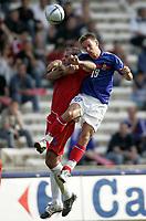 Fotball<br /> Treningskamp<br /> Frankrike v Andorra<br /> 28. mai 2004<br /> Foto: Digitalsport<br /> NORWAY ONLY<br /> BENOIT PEDRETTI (FRA) / ANTONI LIMA (AND)