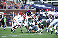 Mississippi Rebels' quarterback Bo Wallace (14) vs. Alabama at Vaught-Hemingway Stadium in Oxford, Miss. on Saturday, October 4, 2014. Ole Miss won 23-17.