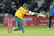 Luke Wood of Nottinghamshire Nottinghamshire Outlaws pulls the ball to leg during the Vitality T20 Blast North Group match between Nottinghamshire County Cricket Club and Worcestershire County Cricket Club at Trent Bridge, West Bridgford, United Kingdon on 18 July 2019.