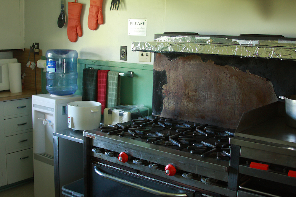 Old Gas Stove in kitchen at White Lake Wetlands Conservation Area Lodge, Vermilion Parish  Louisiana