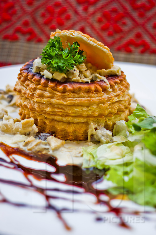 Chicken vol-au-vent at Saint Honore, Hanoi, Vietnam, Asia