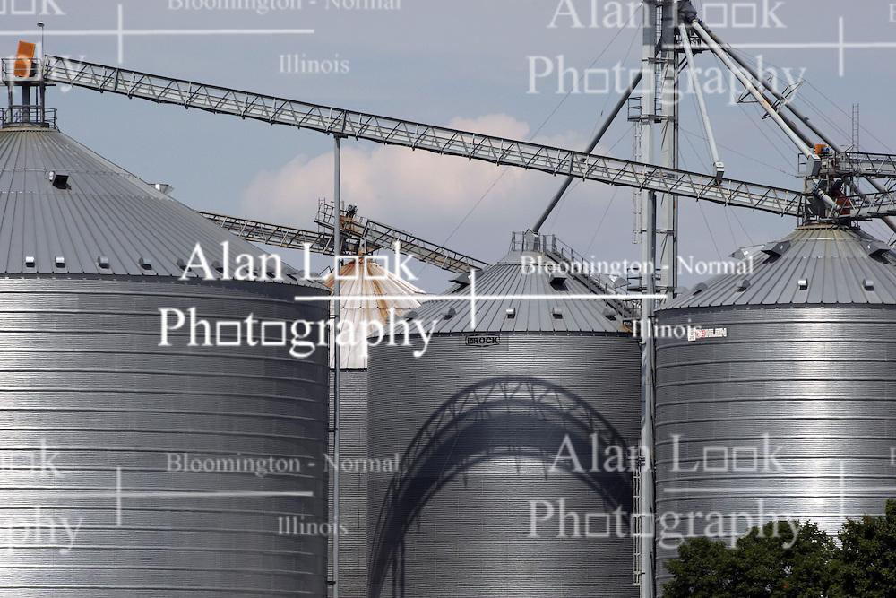 30 July 2012:  Hudson Grain Coop grain storage and processing facility in the town of Hudson in McLean County of Illinois