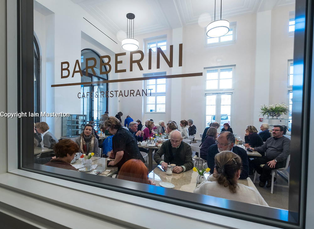 Busy cafe at new Museum Barberini in Potsdam Germany