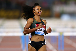 May 31, 2018 - Rome, Italy - Brianna McNeal (USA) competes in 100m hurdles women during Golden Gala Iaaf Diamond League Rome 2018 at Olimpico Stadium in Rome, Italy on May 31, 2018. (Credit Image: © Matteo Ciambelli/NurPhoto via ZUMA Press)