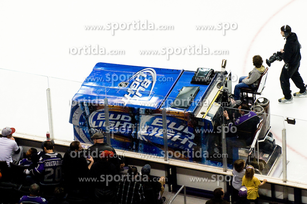 Zamboni during ice-hockey match between Los Angeles Kings and Colorado Avalanche in NHL league, Februar 26, 2011 at Staples Center, Los Angeles, USA. (Photo By Matic Klansek Velej / Sportida.com)