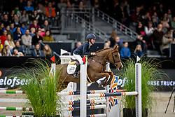 Vanstraelen Lotte, BEL, Erika<br /> JIM Maastricht 2019<br /> Limmy Middag Euregio Jumping Ponies<br /> © Hippo Foto - Dirk Caremans<br />  09/11/2019