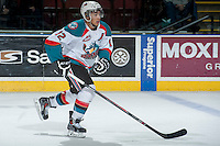 KELOWNA, CANADA -FEBRUARY 10: Tyrell Goulbourne #12 of the Kelowna Rockets skates against the Seattle Thunderbirds on February 10, 2014 at Prospera Place in Kelowna, British Columbia, Canada.   (Photo by Marissa Baecker/Getty Images)  *** Local Caption *** Tyrell Goulbourne;