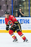 PENTICTON, CANADA - SEPTEMBER 16: Matthew Tkachuk #19 of Calgary Flames skates against the Winnipeg Jets on September 16, 2016 at the South Okanagan Event Centre in Penticton, British Columbia, Canada.  (Photo by Marissa Baecker/Shoot the Breeze)  *** Local Caption *** Matthew Tkachuk;