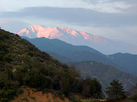 Alpenglow on Mt. Baldy, California