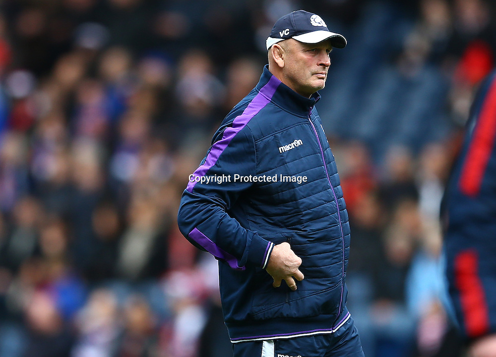 RBS 6 Nations Championship Round 4, BT Murrayfield, Edinburgh, Scotland 13/3/2016<br /> Scotland vs France<br /> Scotland head coach Vern Cotter<br /> Mandatory Credit &copy;INPHO/James Crombie