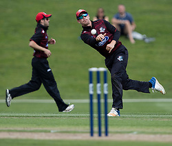 Canterbury's Cole McConchie, right, throws the ball in against Otago Volts in the Ford Trophy one-day domestic cricket match at the University of Otago Oval, Dunedin, New Zealand, Saturday, January 27, 2018. Credit:SNPA / Adam Binns ** NO ARCHIVING**