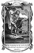 St John the Evangelist with his symbol, the Eagle. Copperplate engraving c1808