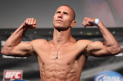 Fairfax, VA - May 14, 2012: Donald Cerrone during the UFC on FUEL TV 3 weigh-in at the Patriot Center in Fairfax, Virginia.
