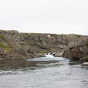 Tómas Guðmundsson at the pool Ármótahylur on Breiðdalsá river, Iceland.
