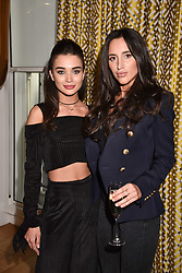 Left to right, Amy Jackson and Lily Fortescue at the Rosie Fortescue Jewellery Launch, Brown's Hotel London England. 10 May 2017.<br /> Photo by Dominic O'Neill/SilverHub 0203 174 1069 sales@silverhubmedia.com