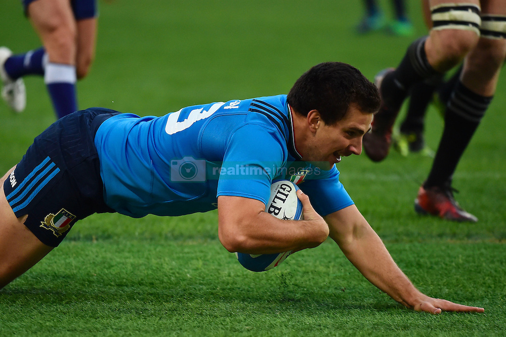 Roma 12/11/2016, Stadio Olimpico Test Match 2016 Italia vs All Blacks - Italy vs All Black (New Zeland) Foto Insidefoto. 12 Nov 2016 Pictured: Tommaso Boni of Italy run to make a try Meta Italia Roma 12/11/2016, Stadio Olimpico Test Match 2016 Italia vs All Blacks - Italy vs All Black (New Zeland) Foto Andrea Staccioli Insidefoto. Photo credit: Insidefoto / MEGA TheMegaAgency.com +1 888 505 6342