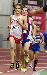 Boston University Multi-team indoor track & field, men's one mile, section 1, BU 2401