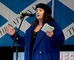 Independence Rally, Glasgow, Saturday 2nd November 2019<br /> <br /> Pictured: Suzanne McLaughlin <br /> <br /> Alex Todd | Edinburgh Elite media