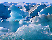 Icebergs in Jökulsárlón, South Iceland, Europe