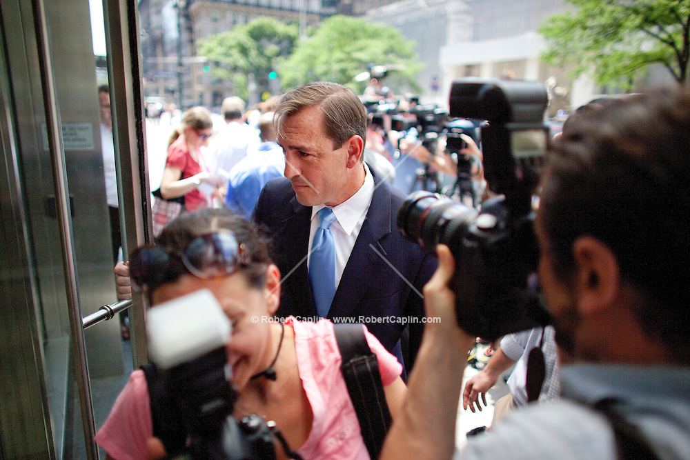 Former Rep. Vito Fossella said in a press conference outside his hedge fund office in Manhattan Wednesday he will not run to try to recapture the House seat he gave up after a 2008 scandal over a drunk driving arrest and a secret child from an extramarital affair. ..CREDIT: Robert Caplin .