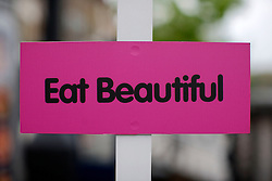 UK ENGLAND LONDON 1MAY12 - Eat beautiful sign in Islington, North London....jre/Photo by Jiri Rezac....© Jiri Rezac 2012