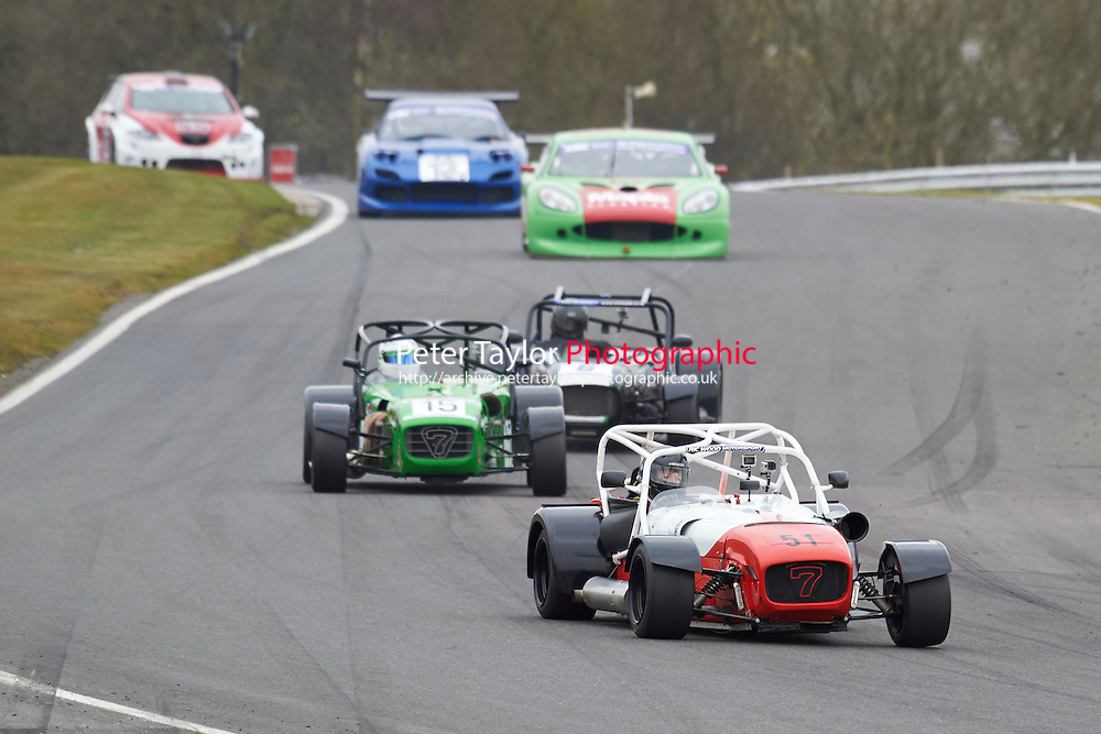 #51 Roddie PATERSON Caterham R400 2300 during CNC Heads Sports / Saloon Championship as part of the BARC NW - Championship Raceday  at Oulton Park, Little Budworth, Cheshire, United Kingdom. March 19 2016. World Copyright Peter Taylor/PSP. Copy of publication required for printed pictures.  Every used picture is fee-liable. http://archive.petertaylor-photographic.co.uk