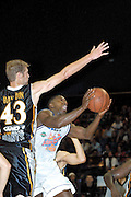 NBL Basketball 2002<br />Nelson Giants v Wellington Saints at Queens Wharf Event Centre in Wellington, 20/4/02<br />Tyrone Brown<br /><br />Pic: Sandra Teddy/Photosport<br />*digital image*