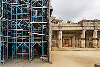 "ROME, ITALY - 30 MARCH 2015: A portion of the set of ""Christ the Lord: Out of Egypt"", an upcoming film (2016) by director Cyrus Nowrasteh  based on Anne Rice's 2005 book, is here in Cinecittà  <br /> in Rome, Italy, on March 30th 2015.<br /> <br /> Italy instated a special 25% tax credit for film productions in 2010. The industry then lobbied to remove the credit's cap, and last July, Italy lifted its tax credit limit from €5 million per movie to €10 million per company per year. <br />  <br /> Cinecittà, a large film studio in Rome, is considered the hub of Italian cinema. The studios were founded in 1937 by Benito Mussolini as part of a scheme to revive the Italian film industry. In the 1950s, the number of international productions being made here led to Rome being dubbed as the ""Hollywood on the Tiber"". In the 1950s, Cinecittà was the filming location for several large American film productions like Ben-Hur, and then became the studio most closely associated with Federico Fellini.<br /> After a period of near-bankruptcy, the Italian Government privatized Cinecittà in 1997, selling an 80% stake.<br /> <br /> Currently Ben-Hur and Zoolander 2 are booked into Cinecittà Studios."