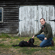Colin Butcher and his dog Molly who is the worlds first cat detection dog. Of the charity Medical Detection Dogs. For  Experience,Guardian Weekend magazine