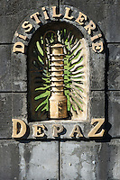 Distillerie depaz, rhum , plantation de la Montagne Pelé, Saint Pierre, Martinique, France