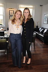 Left to right, AMANDA KYME and CLAIRE GOODWIN at a breakfast hosted by Bobbi Brown - the cosmetics company held at Morton's, 28 Berkeley Square, London on 8th December 2009.