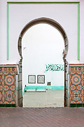 Zaouia / zawiya burial tomb shrine site of Sidi Abdullah al-Ghazwani, Marrakesh, Morocco, 2016–04-19. <br />