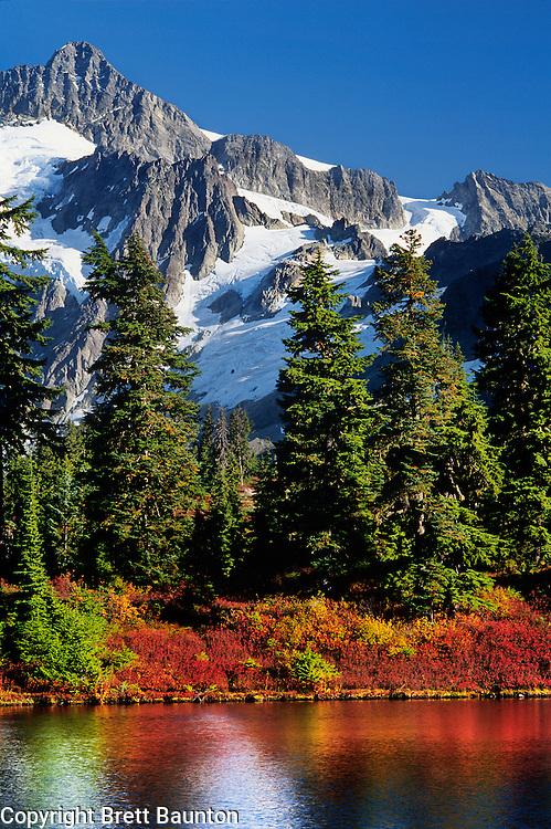 Mt. Shuksan, North Cascades National Park. Reflection Lake, Fall