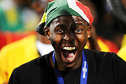 A Ghana fan gets in the mood during the 2010 FIFA World Cup South Africa Group D match between Serbia and Ghana at Loftus Versfeld Stadium on June 13, 2010 in Pretoria, South Africa.