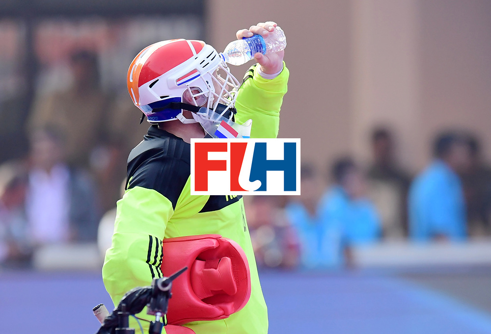 Odisha Men's Hockey World League Final Bhubaneswar 2017<br /> Match id:04<br /> Netherlands vs Spain<br /> Foto: keeper Pirmin Blaak (Ned) <br /> WORLDSPORTPICS COPYRIGHT FRANK UIJLENBROEK